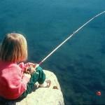 Rachel fishing
